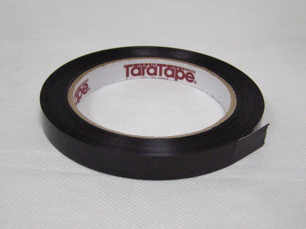 sleeve of black poly strapping tape