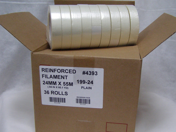 "case of 1"" filament tape"