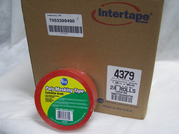 case of red vinyl masking tape