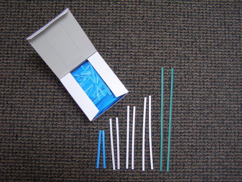 paper covered twist ties