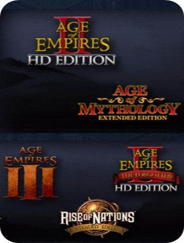 MICROSOFT RTS COLLECTION: AGE OF EMPIRES/AGE OF EMPIRES MYTHOLOGY/RISE OF NATIONS