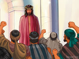 easter illustration jesus crowd accusers