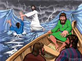 christian comic Jesus walks on water