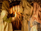 nativity backgrounds mary joseph and inn keeper