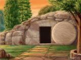 easter illustration the empty tomb