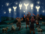 christmas illustrations angles appear to shepherds