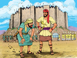 christian comic Joshua at the wall of Jericho