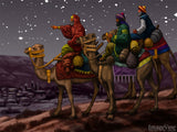 christmas illustrations we three kings