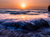 Sunset Backgrounds Amethyst Tide Ocean Waves