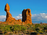 blue sky balanced rock arches national park