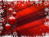 christmas color backgrounds red snowy boarder