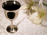 communion cup and lilies for easter