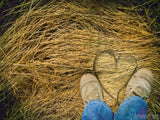 hay feet heart country boots