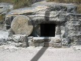 cross shadow of the empty tomb