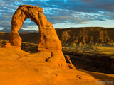 beautiful sunset on delicate arch Utah