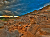 the badlands desert hills