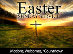 easter, sunday, service, motion, backgrounds