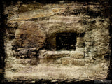empty tomb grunge background