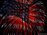 fireworks show shape of us flag