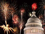 july 4th fireworks over the capitol