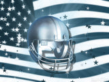 football helmet over a flag CG