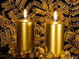 christmas background gold christmas candles