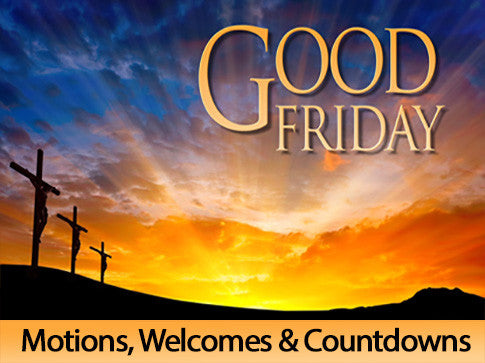 Good Friday, motion, backgrounds, easter