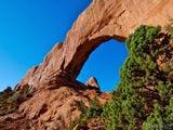 a unique view of window arch Utah