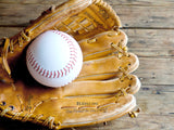baseball glove and ball lets play catch