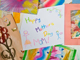 crayon card says happy mothers day