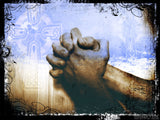 hands folded in our father prayer