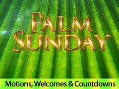 Palm Sunday, motion, backgrounds, easter
