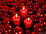 backgrounds for christmas red candles and ornaments