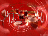 rhythm music section on a red background