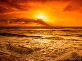 Sunset Backgrounds Rushing Waves orange sky