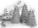 backgrounds for christmas silvery tree decorations
