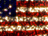 lights form the star spangled banner