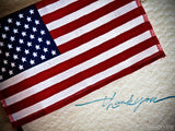thank you card with us flag
