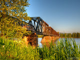 old rusting train bridge