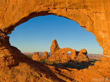 turret arch framed in window arch Utah