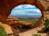 window to the world arch in utah
