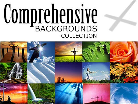 comprehensive christian worship backgrounds collection