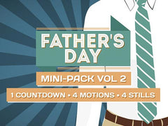 fathers day motion backgrounds and countdown with tie