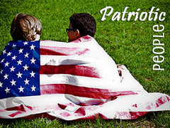patriotic people background collection