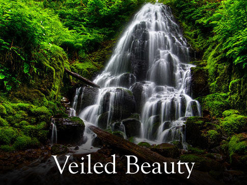 Veiled Beauty Waterfall Backgrounds Collection