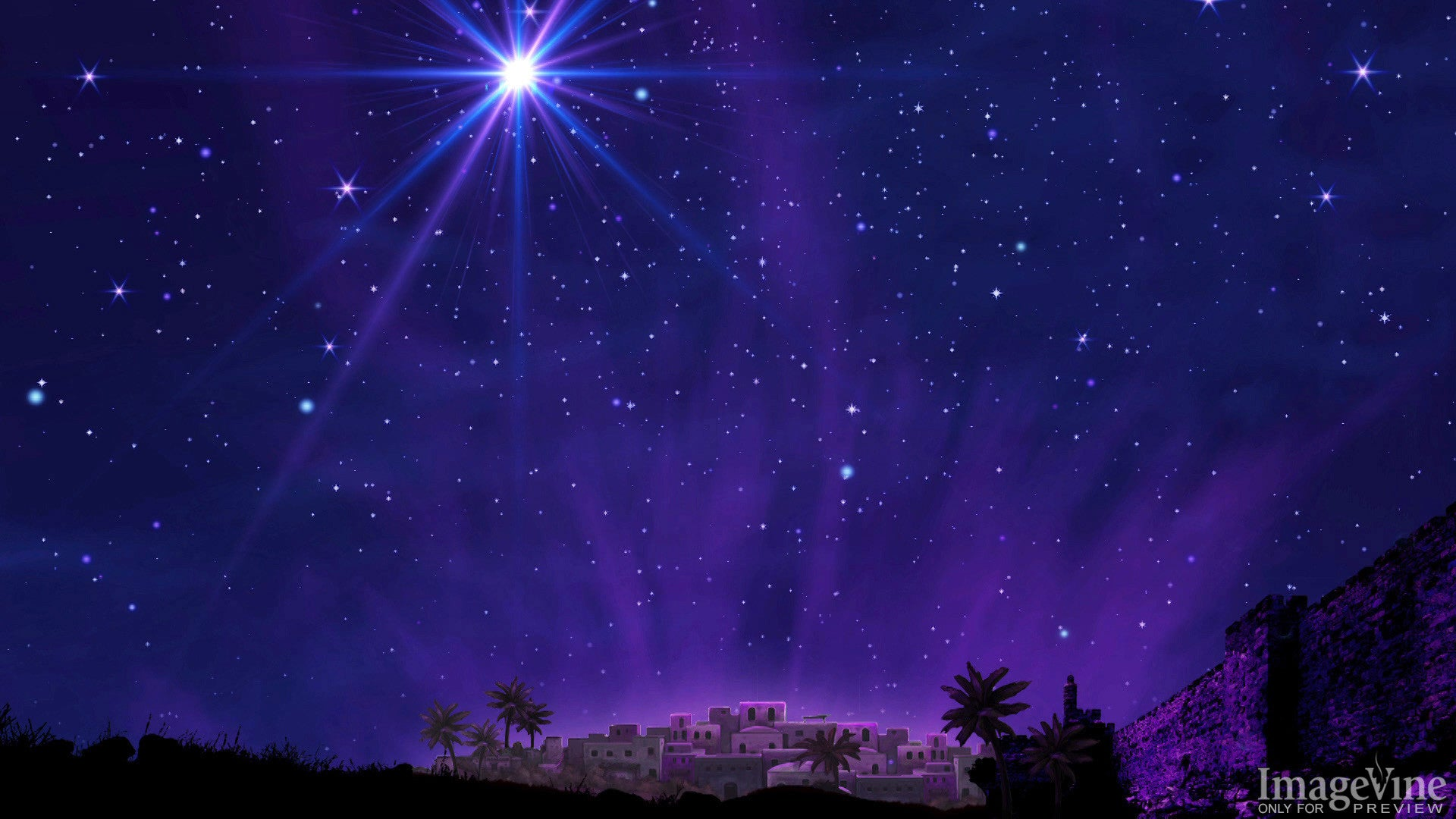 christmas eve backgrounds, bethlehem, star, night sky