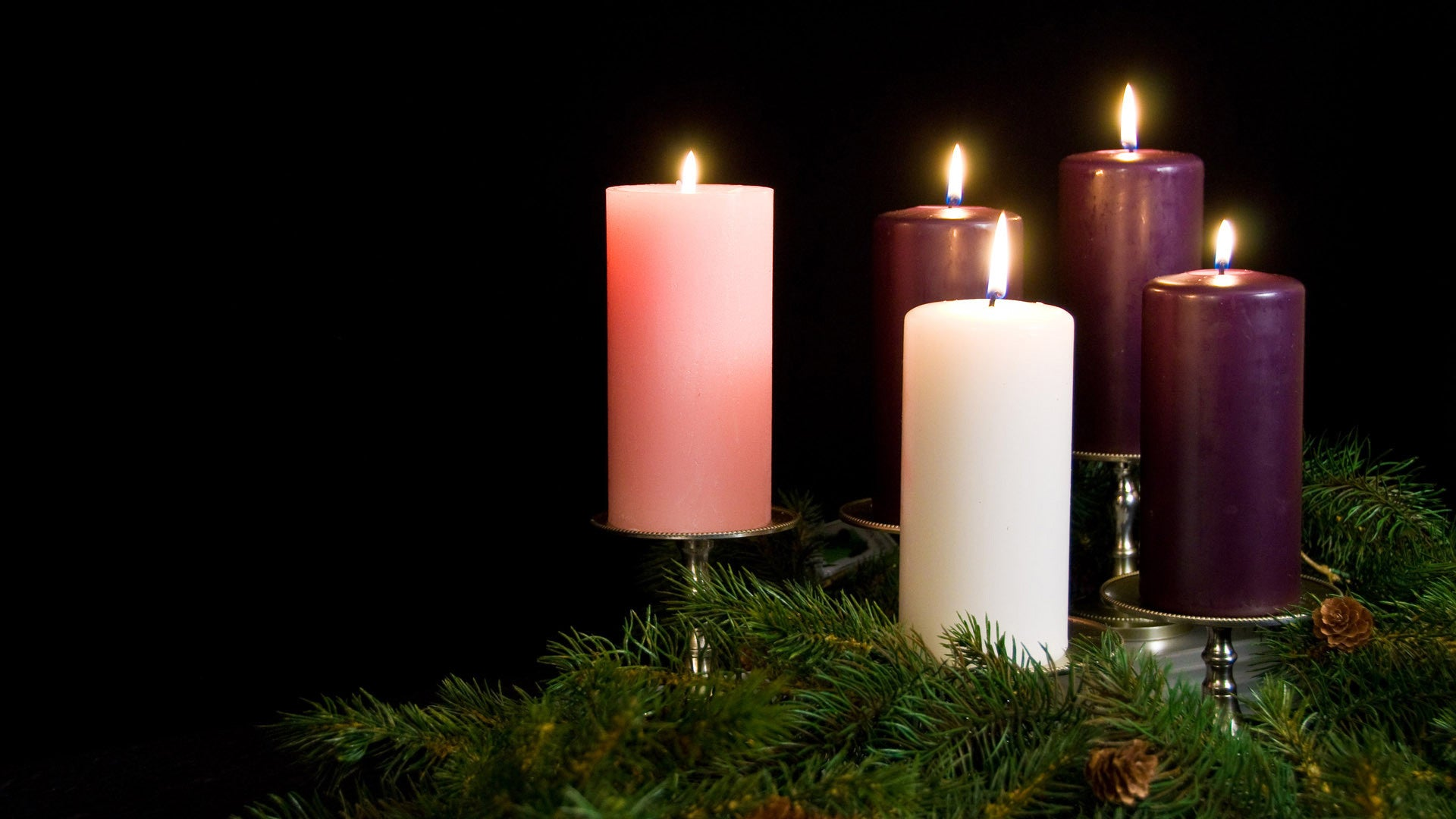 free advent media, candles, christmas