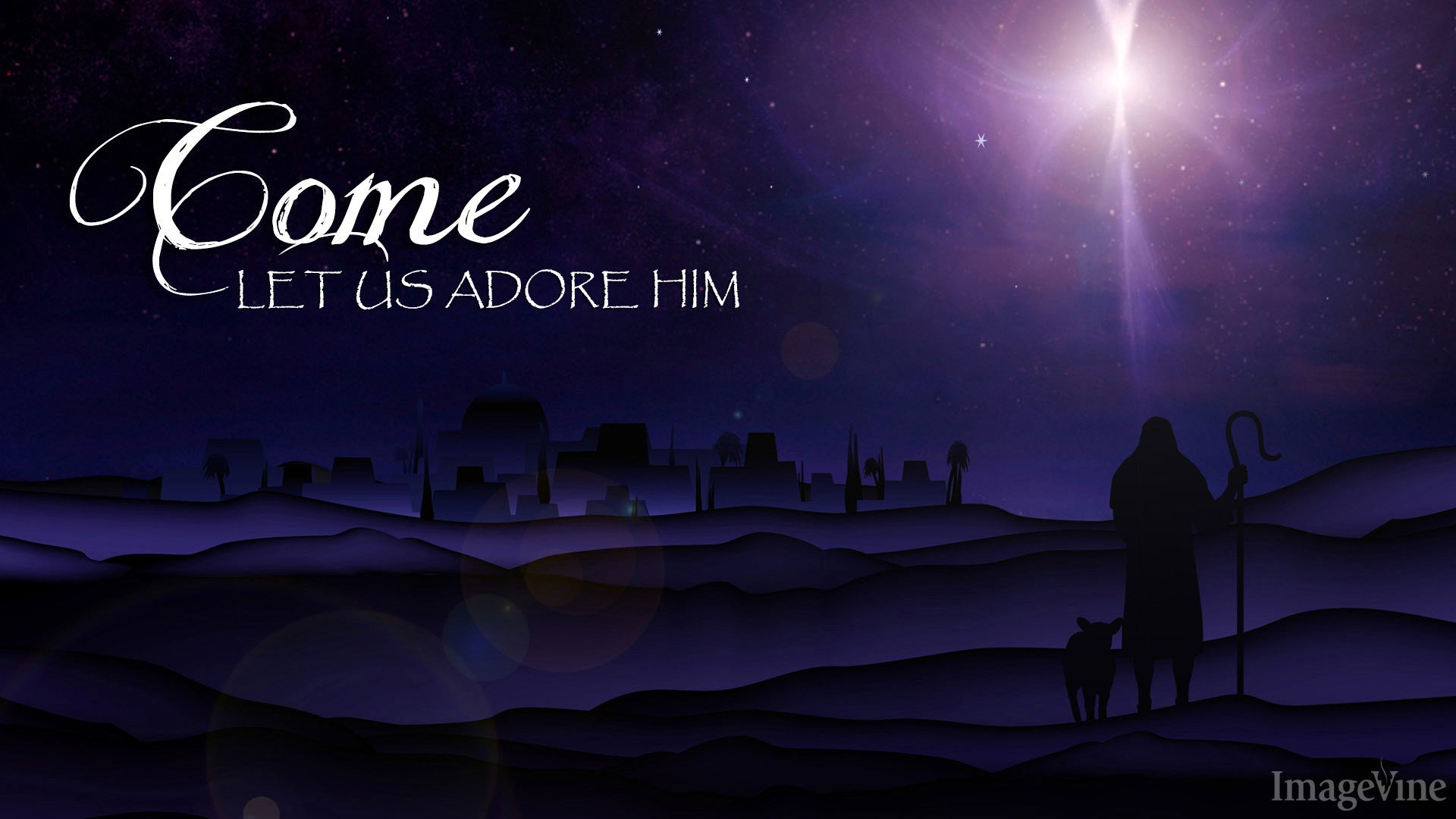 christmas background, christmas powerpoint, quote, come let us adore him