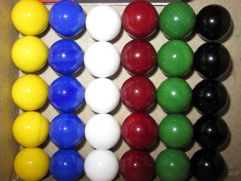30 Solid Color Replacement GLASS MARBLES~14mm