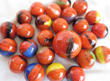 25 CLOWNFISH Glass Marbles